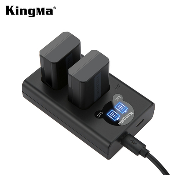KingMa Smart LCD Dual Battery Charger and NP-FW50 for Sony A6300 A6500 NEX-3 5 6 7 A5100   7Rm2 5100 QX1 RX10M2 7S a7m2  A7r2 s2