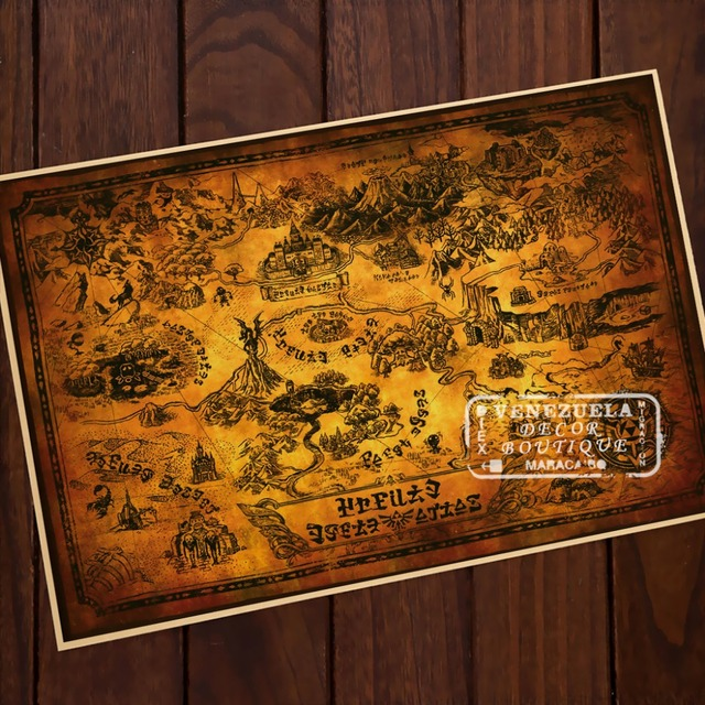 Antique Map Kraft Paper Game of Thrones Comics Vintage Classic Retro Decorative Frame Poster DIY Wall Posters Home Decor Gift
