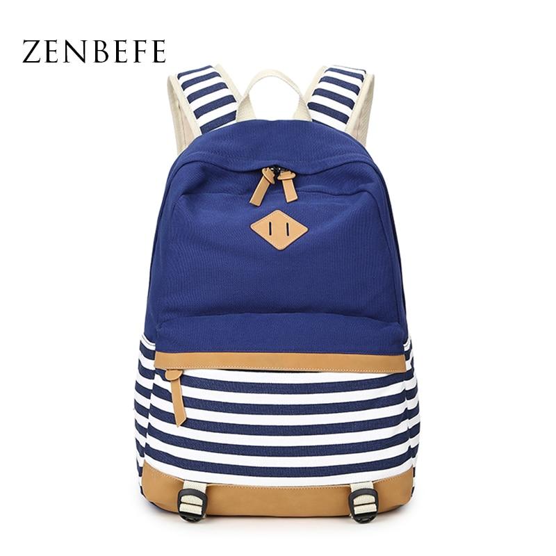 ZENBEFE 배낭 패션 여행 가방 인쇄 배낭 여성 학교 가방 십대 소녀 귀여운 Bookbags 빈티지 노트북 배낭