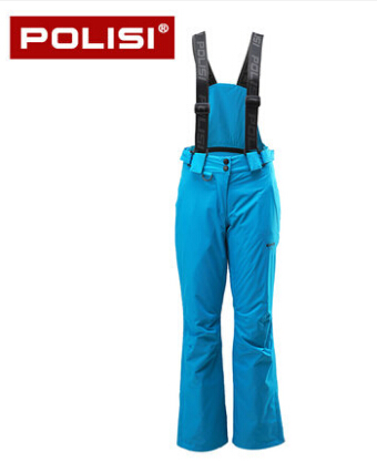 POLISI Professional Thermal Warm Ski Bib Pants Waterproof Windproof Outdoor Sport Snowboard Pants Women Skiing Snow Trousers plus size pants the spring new jeans pants suspenders ladies denim trousers elastic braces bib overalls for women dungarees