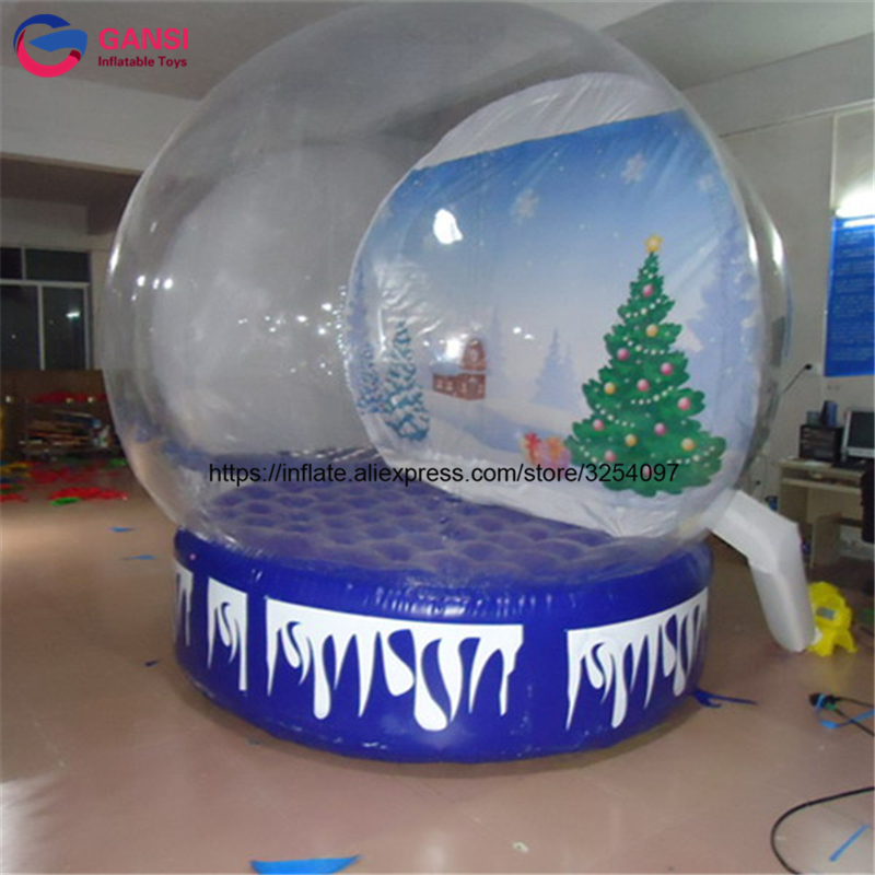 Guangdong 3m diameter inflatable snow globe photo booth with customized background wholesale inflatable snow show ball for event 3m diameter empty inflatable snow ball for advertisement christmas decorations giant inflatable snow globe