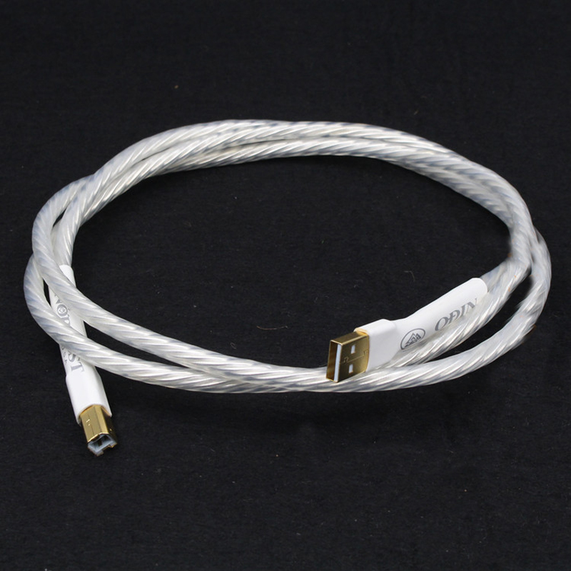 Hifi 1pcs Odin interconnect USB cable with A to B plated gold connection USB audio digital