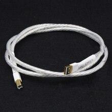 Hifi 1 шт. Odin межблочный USB кабель с A до B позолоченный USB аудио цифровой кабель