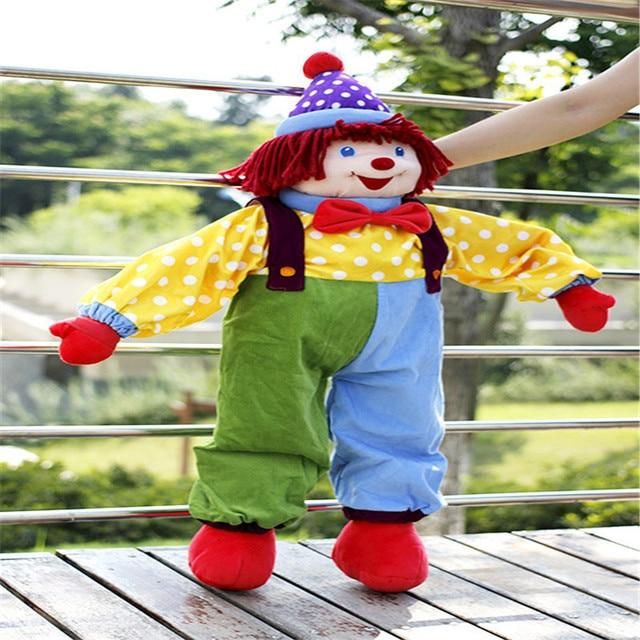 Doub K 85cm cirque clown poupées en peluche jouets pour enfants apaiser poupée saint valentin cadeaux sommeil oreiller scène performance accessoires