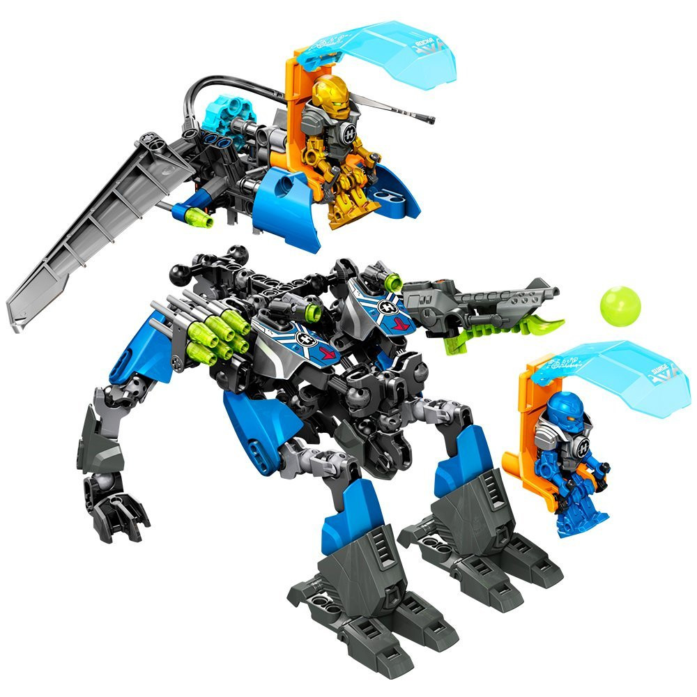 Model building kits compatible with lego  Hero Factory Super fit walkers 3D blocks Educational toys hobbies for children head speed 25 gr07 234856