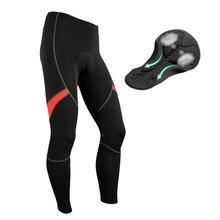 Lixada мужские велосипедные штаны с 3D гелевой подкладкой, компрессионные колготки для велосипеда, дышащие термо флисовые длинные штаны для езды на велосипеде