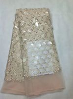 white tull lace with gold sequin french design gold glitter mesh fabric with sequin flower top quality sequin fabric for dress