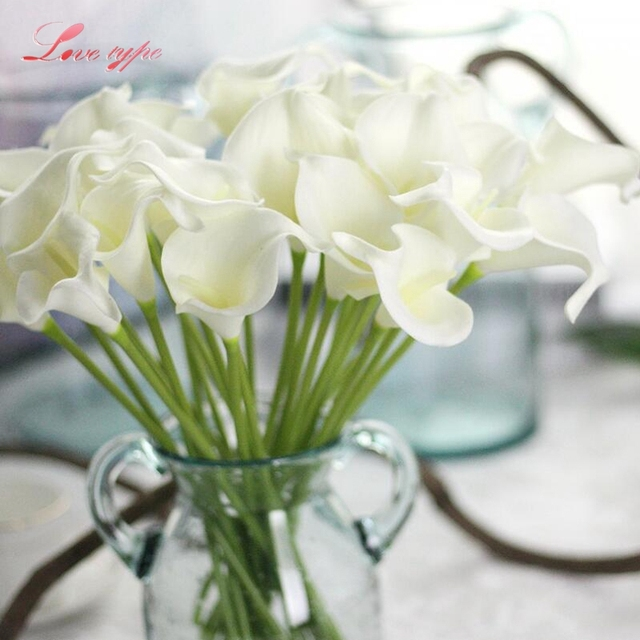 5pcslot calla lily artificial flowers wedding flowers diy flower 5pcslot calla lily artificial flowers wedding flowers diy flower bouquet wedding favors for home mightylinksfo