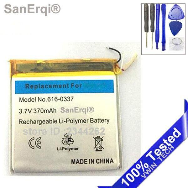SanErqi Pour Nano3 Batterie de Remplacement 3.7 V Li-ion Batterie de Remplacement pour iPod Nano 3 3ème Gen Batterie avec Outils