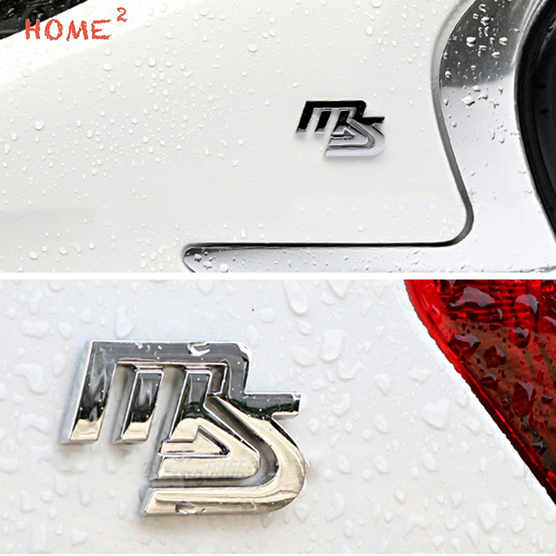Car Styling High-end Auto Alloy Body Sticker Decal Emblem Badge for MS Logo for Mazda Atenza Axela mx3 mx5 speed protege