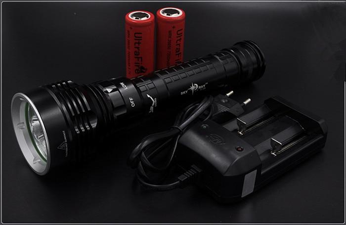 Underwater Diving flashlight LED Lanterna 8000 Lumens 5x CREE XM-L2 waterproof Dive Torch light linterna led - Hikingstar store