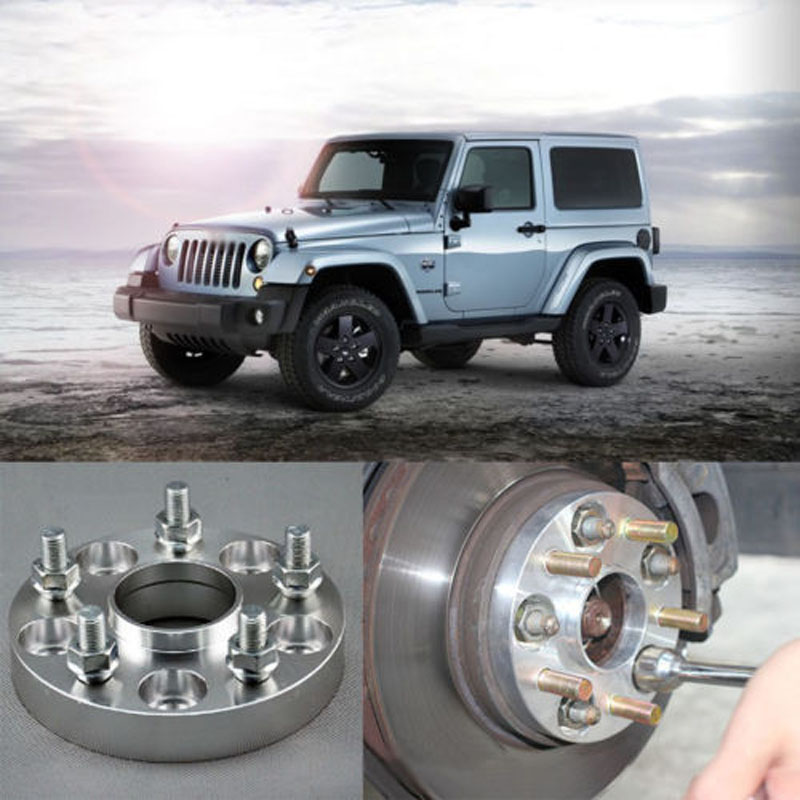 Teeze 4pcs Billet 5 Lug 1/2 - 20 UNF Studs Wheel Spacers Adapters For Jeep Commander 2006-2010/ Wrangler 2007-2017 4pcs new billet 5 lug 14 1 5 studs wheel spacers adapters for bmw x5 e70 2007 2013