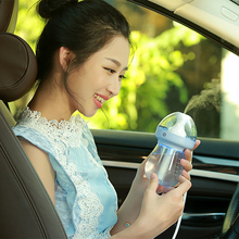 USB Air Humidifeir Cute bottle Portable Humidifier For Home Car Office LED Night Light Diffuser Mist Maker  DC5V