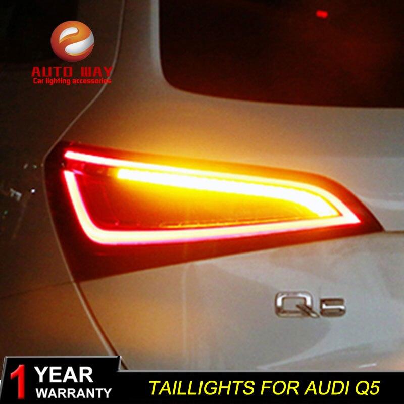 Étui de style de voiture pour Audi Q5 2009-2015 feux arrière feux arrière feu arrière LED feu arrière DRL + clignotant + frein + marche arrière