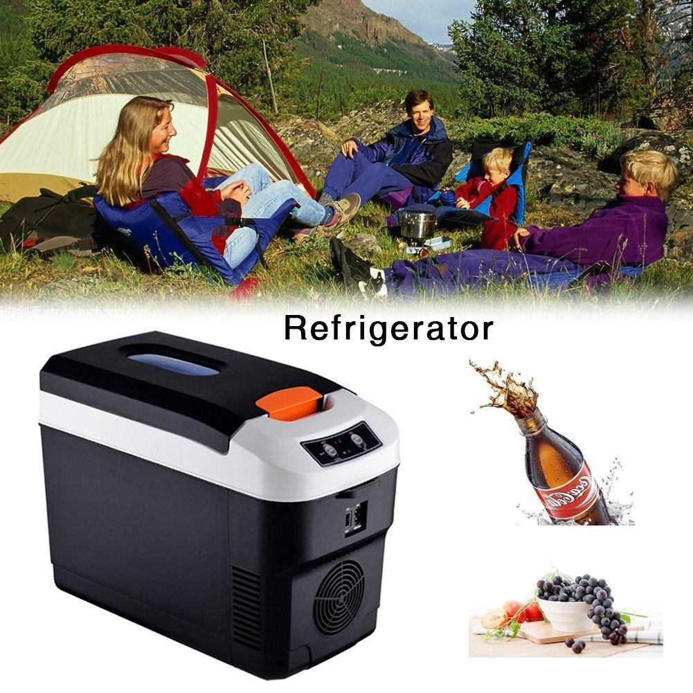 10L Small Refrigerator Car Home Dual-use Refrigerator Outdoor Camping Refrigerator Portable Cooler 12v24V