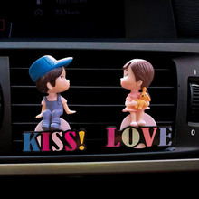 Lovers car air freshener perfume air conditioner outlet Perfume clip bulldog auto air freshener Car interior accessories