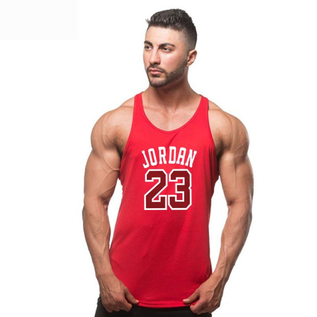 Summer Brand Clothing Jordan 23 Men Vest T-Shirt Cotton Print Men Fitness Tank Tops Fitness Camisetas Hip Hop sleeveless shirt