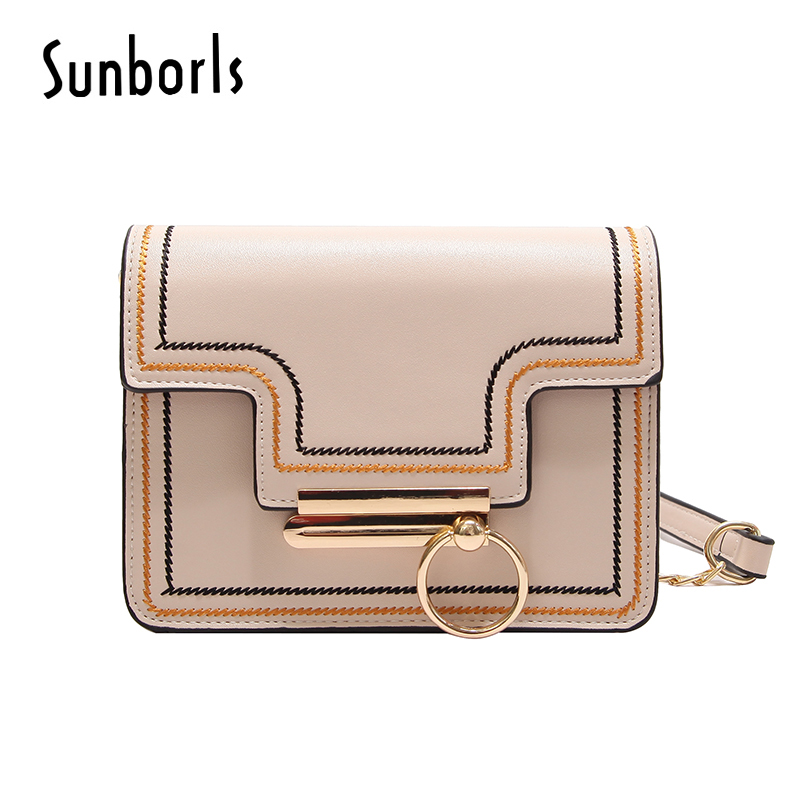 Fashion Women Messenger Bag Quality Leather Womens Flap Bag Chain Strap Female Shoulder Bag Lady Crossbody Bags beige 2e663