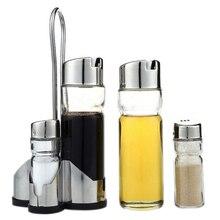 5X Salz Pfeffer Öl Sauce Essig Spender Menage Menage Glas Container