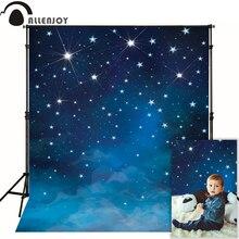 Allenjoy 写真背景スペースブルー星が輝く写真の販売の写真ファンタジー生地ビニール photocall