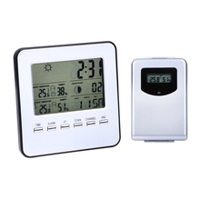 Buy online Digital Thermometer Remote Sensor Weather Station With Wireless Sensors Indoor Outdoor Street Temperature Meter Hygrometer