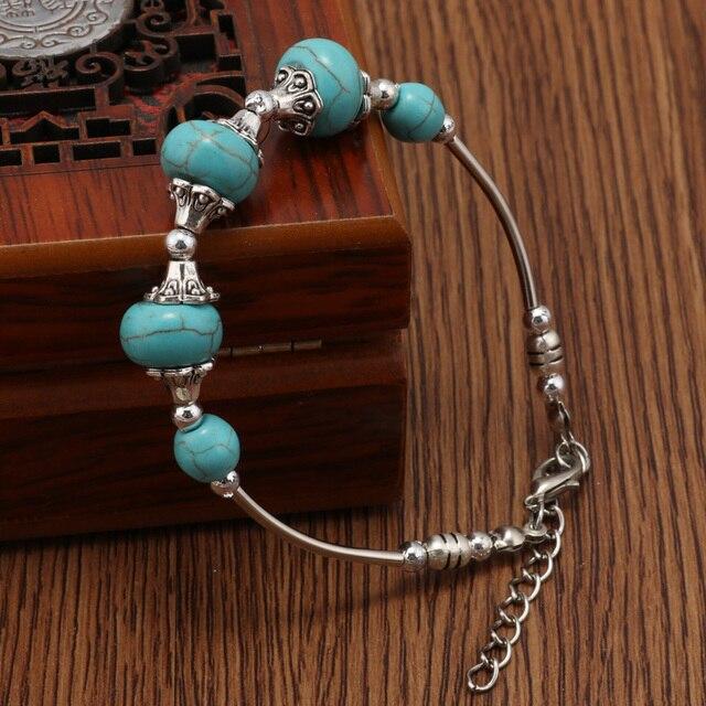 Bracelet Amazonite Argent