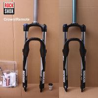 RockShox 26 велосипедная передняя вилка с амортизацией алюминиевый пульт/Велосипедная вилка короны 1 1/8 дисковые тормозные вилки для горных вел