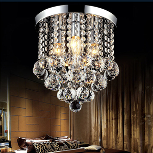 Image 2 - New Round LED Crystal Ceiling Light For Living Room Indoor Lamp luminaria home decoration