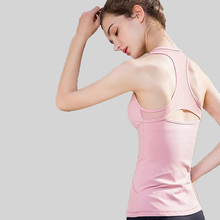 New Yoga Tops Women Sexy Gym Sportswear Vest Fitness tight woman clothing Sleeveless Running shirt Quick Dry Pink Yoga Tank Top цены