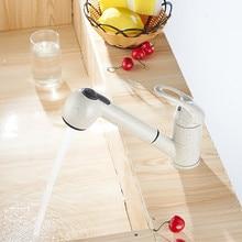 Одной ручкой белый кран смеситель для кухни вытащить камень цвет кухни тянуть вниз кран для раковины кухня torneira Cozinha