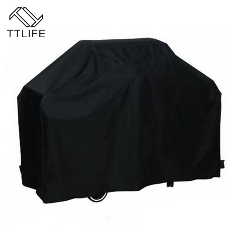 TTLIFE 2019 New Waterproof BBQ Grill Barbeque Cover Black Outdoor Rain Grill Anti Dust Ultraviolet-proof  Barbecue Grill Cover