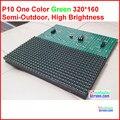 Зеленый цвет p10 модуль, качество 320*160 32*16 hub12 монохромный лучшая цена p10 светодиодный модуль один цвет, p10 один зеленый панель
