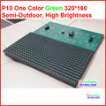green color p10 module,quality a 320*160 32*16  hub12  monochrome best price  p10 led module one color,p10 single green panel