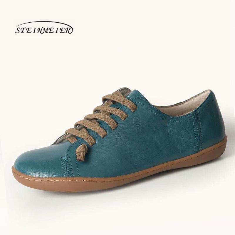 Chaussures d'été femme baleriny sans lacet femme chaussures plates printemps femme cuir décontracté groupe pieds nus chaussures sneakers - 3