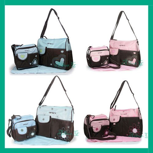 Diaper Bag Ny Tote Shoulder Changing Twins 4 Pcs Free Shipping