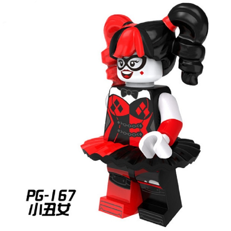 Single Sale Super Heroes Harley Quinn in Puff Ballet Skirt Riddler Bricks Building Blocks Education Toys for children Gift PG167