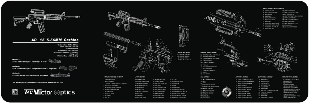 Glock Schematic Diagram Mercury Energy Level Vector Optics 36x12 Inch Ar15 .223 Carbine Gun Cleaning Bench Rubber Mat Accessory All Rifle ...