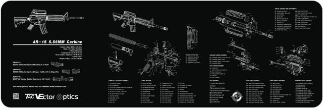 Vector Optics 36x12 Inch Ar15 223 Carbine Gun Cleaning Bench Rubber Mat Accessory All Rifle