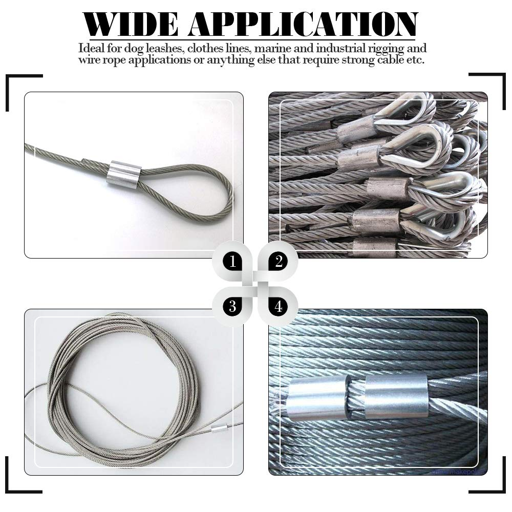 Image 5 - 10 Pcs M8 Wire Rope Aluminium Sleeve Dual Hole 8 Shape Cable Chuck for ROV Remote Operated Vehicle Waterproof Free Shipping-in Marine Hardware from Automobiles & Motorcycles