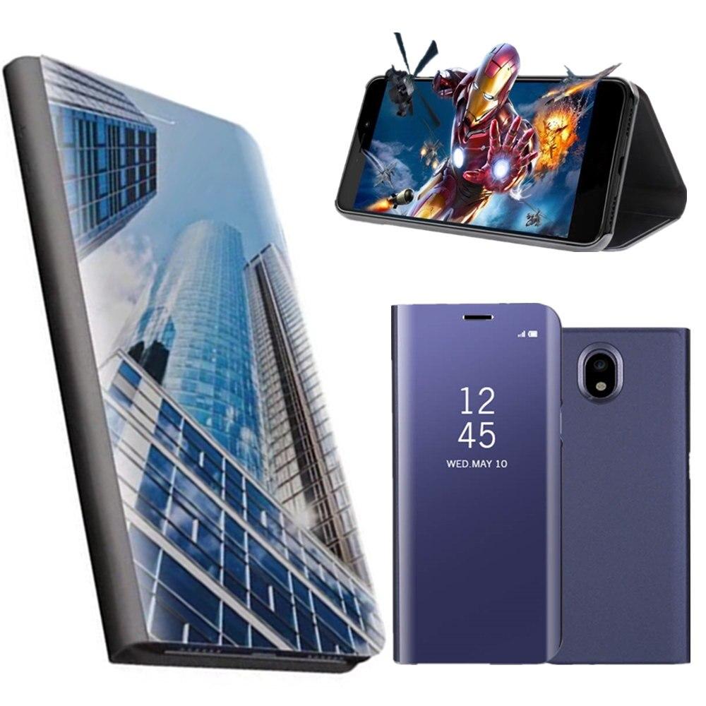 Smart Smart Window View Miroir Flip Cas Coque Pour Samsung Galaxy J5 J3 J330 J530 J730 Premier UE Pour Samsung J7 2017 Miroir Cas