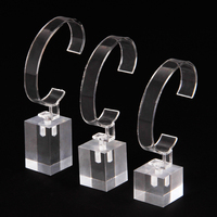 Set Of 6 Acrylic Detachable Jewelry Bracelet Watch Display Holder Stand Rack Clear