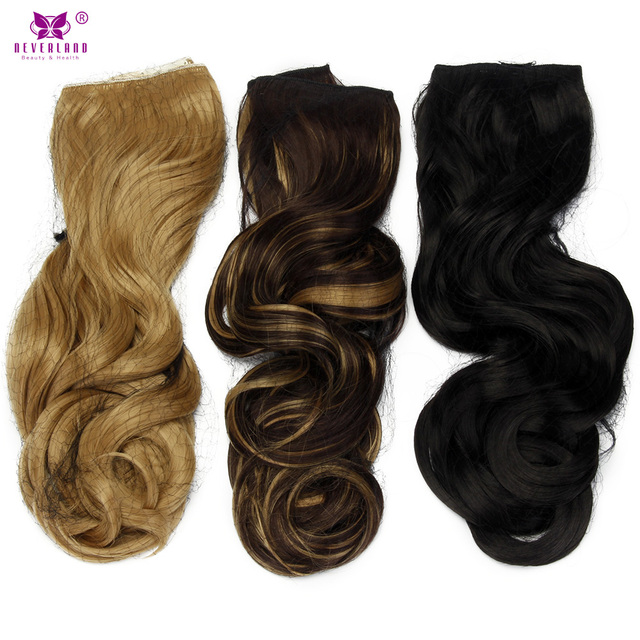 Aimei 22 Wavy Synthetic One Piece Clip In Hair Extensions Long Hair