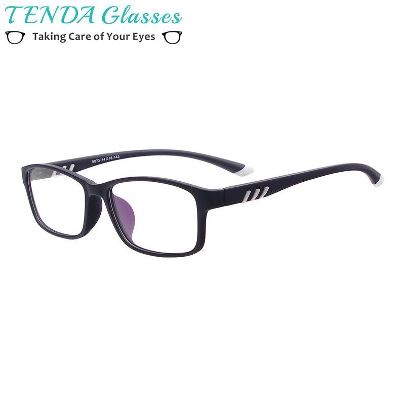 c27263bb39 Men and Women Sport Style Glasses TR90 Lightweight Rectangular Eyeglass  Frame For Prescription Lenses Myopia Progressive
