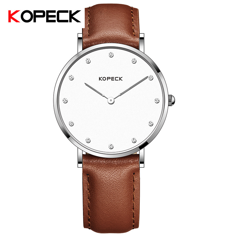 Kopeck Ultra Slim Sport Leather Woman Wrist Best Quartz Watch Women's 2018 Brand Luxury Ladies Girls Wristwatch Relogio Feminino meibo brand fashion women hollow flower wristwatch luxury leather strap quartz watch relogio feminino drop shipping gift 2012