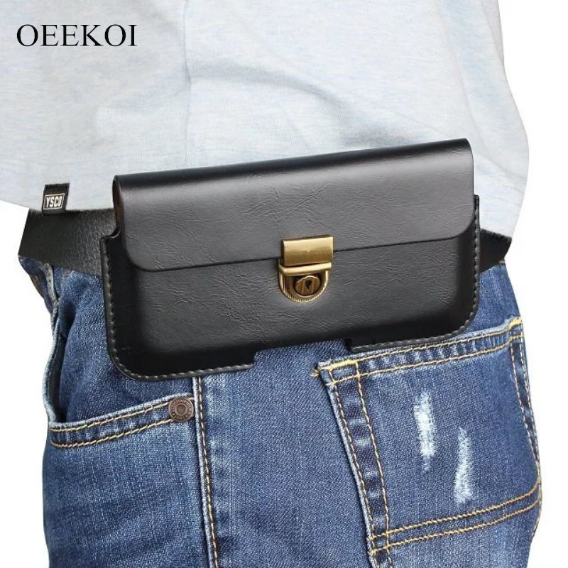 OEEKOI PU Leather Belt Clip Pouch Cover Case for Samsung Galaxy S9 Plus/On7 Prime/A8 2018/A8 Plus/S8 Plus/On Max