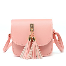 Fashion 2018 Small Chains Bag Women Candy Color Tassel Messe