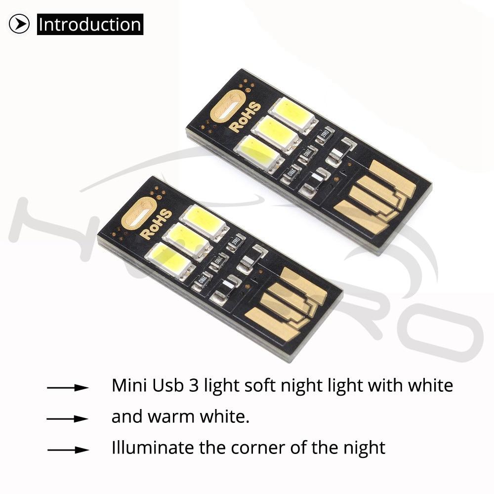 Hviero 1pcs One-sided Pocket Card Lamp Bulb Led Keychain Mini LED Energy Saving Warm White Night Light Portable Novelty Bulb USB Power