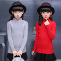 Children Sweaters For Girls Tops Turtleneck Winter Knitted Sweaters Girls Kids Knitwear 2017 New Year Costumes 2 4 6 8 10 Years