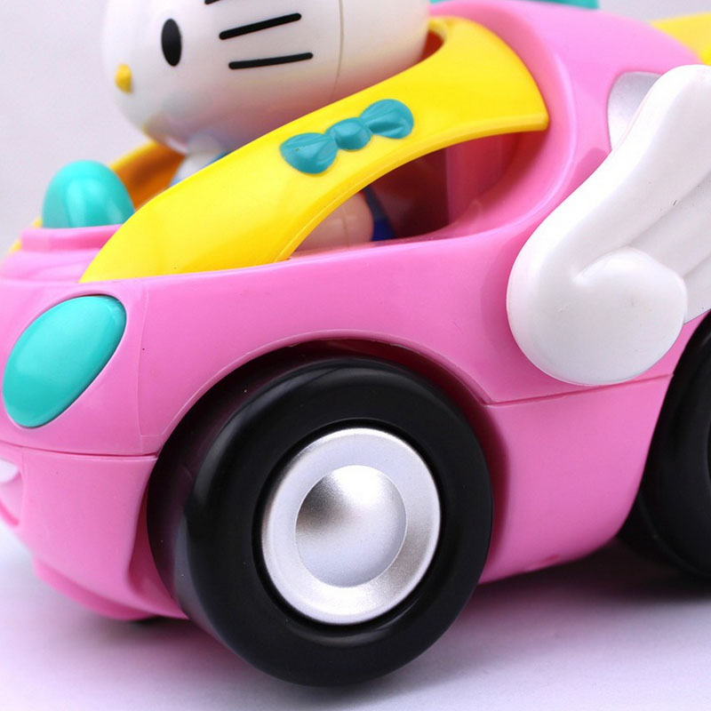 new baby girl hello kitty remote control electric toys car kids rc car high speed cute cat cartoon musical light child car toy in rc cars from toys
