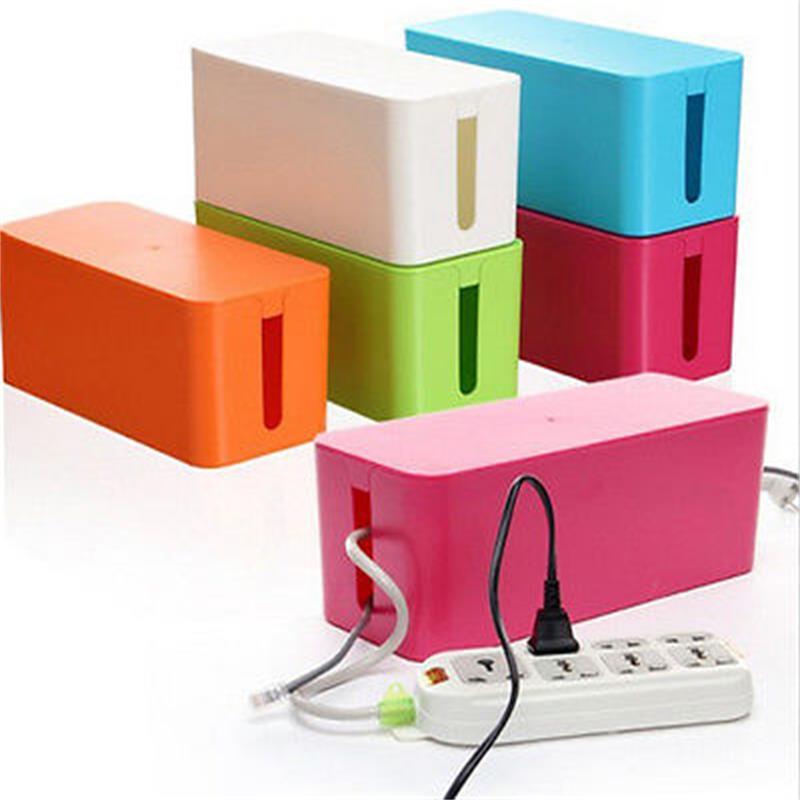 Kabel Aufbewahrungsbox Draht Management Buchse Sicherheit Tidy Organizer Lösung SM 0526